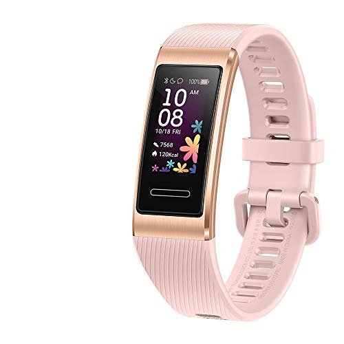 Huawei Band 4 pro advanced fitness tracker with heart rate, 0.95 Inch Amoled screen, built-in GPS, up to 11 sports mode including professional sports guidance