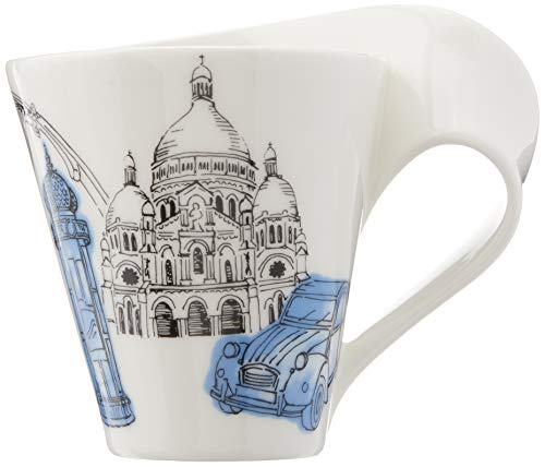 Villeroy & Boch 10-3527-9100 Cities of the World Kaffeebecher, Premium Porzellan, blau