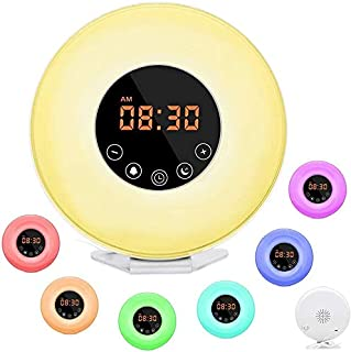 LBell Wake Up Light, Alarm Clock [2018 Upgraded] Digital Alarm Clock with Sunrise Simulation, 7 Colors Night Light, 6 Natu...