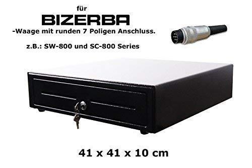 Kassenlade iQCash410BZB 41x41x10cm für Bizerba Waage (SW-800 und SC-800), Kassenfach Kassenschublade Geldlade Geldkasette