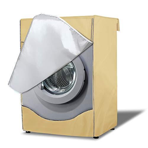 AlaSou Coperture Lavatire,Copertura Asciugatrice per Esterno, Coprilavatrice da Esterno Copertura Impermeabile(Light Brown,60x60x85cm