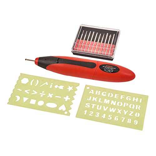 Amtech V2545 Grabador de Estilo Pen con Accesorios, 3 V