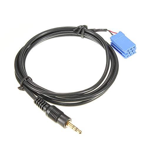 OYWNF Cable AUX Capa Auto AUDICIONES DE Audio for Radio BLAUPUNKT 00-10 BLA-3.5MM