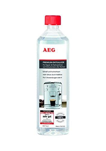 AEG ECF4-2 Premium ontkalker voor alle automaten (100% garantie voor alle merken, testwinnaars, 500 ml voor 5 toepassingen in plaats van 4, voorzichtig ontkalken, geurloos, milieuvriendelijk)