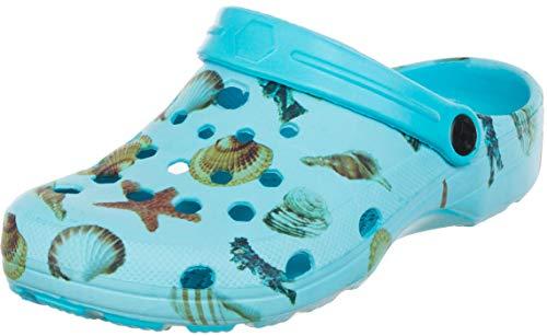Brandsseller Chanclas de baño para mujer, para jardín, playa, flamenco, piña, sandía, para tiempo libre, color Azul, talla 39 EU