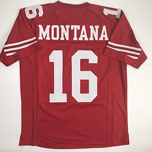 Unsigned Joe Montana San Francisco Red Custom Stitched Football Jersey Size XL New No Brands/Logos