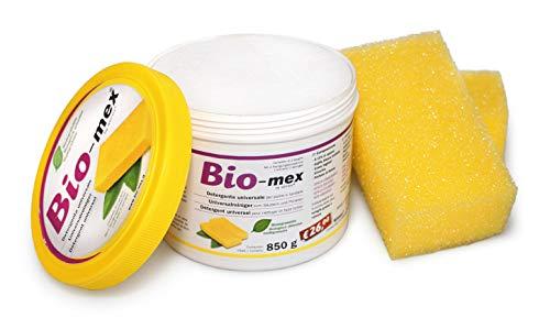 Bio-mex 850gr Pasta limpiadora Multiusos 100% Natural, Biodegradable. 2 Esponjsas Incluidas