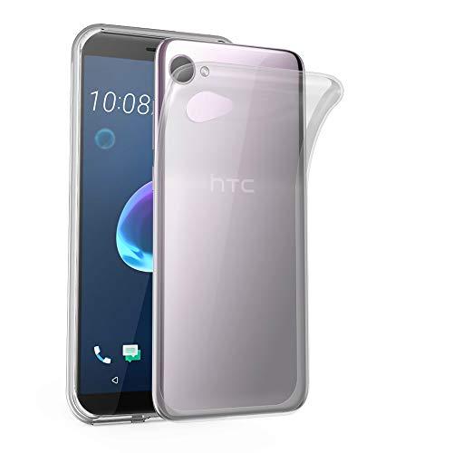 Cadorabo Hülle für HTC Desire 12 in VOLL TRANSPARENT - Handyhülle aus flexiblem TPU Silikon - Silikonhülle Schutzhülle Ultra Slim Soft Back Cover Hülle Bumper