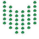 ZERHOK 6Stk St. Patrick Party Kleeblättern Banner Glitzer Grüne Glück Girlande Irische Accessoires Willkommen Glückliche Hängend deko für St. Patrick's Day
