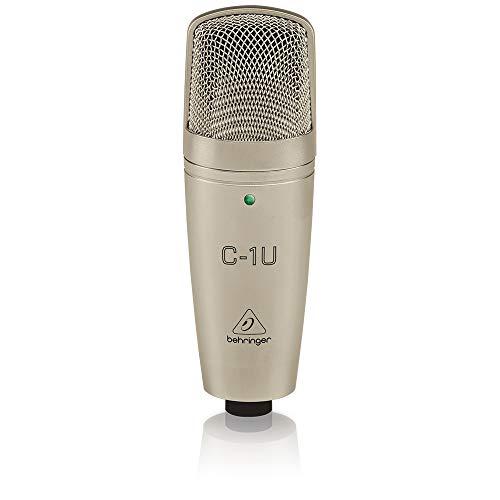 Behringer C-1U Micrófono para estudio (USB, 136 dB), color dorado