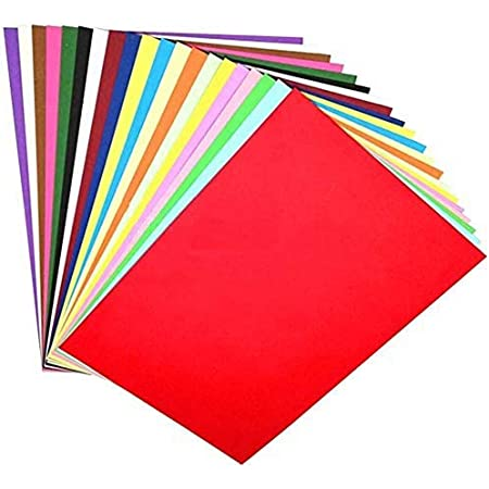 OFIXO 100 Pieces A4 Color Paper (10 Sheets of Each Color) for Art and Craft/Printing Purpose Multi Color Paper Thin Paper 10 Colors Sent at Random