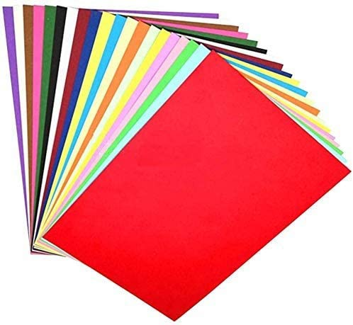 OFIXO 100 Pieces A4 Color Paper (10 Sheets of Each Color) for Art and Craft/Printing Purpose Multi Color Paper Thin P...