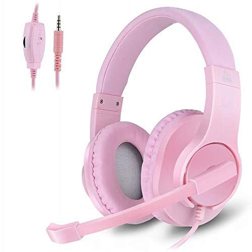 Computer Universale Gaming Headset con Microfono Bassi Surround E Noise Cancelling 3,5 Millimetri negli Cuffie dell'orecchio con Il Mic for Il PC Smartphone (Color : Nero)