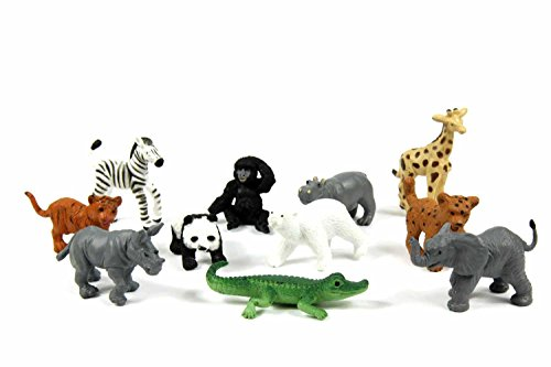 Miniblings 11x Zootiere Wildtiere Tiere Tierkinder Aufstellfiguren Zoo Baby