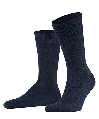 FALKE Herren Socken Family - 94{49516dd2aa422952e86105b6254c4a21a543de55900927187c88c0e72af04e6e} Baumwolle, 1 Paar, Blau (Navy Blue Melange 6490), Größe: 43-46