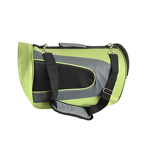 1yess Hundetragetasche heraus Schulter-Beutel Katzenkäfig Pet Beutel (Farbe: Pink) (Color : Green)
