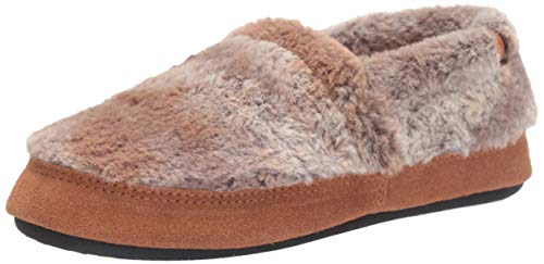 Acorn womens Moc Slipper, Brown Berber, 9.5-10.5 US