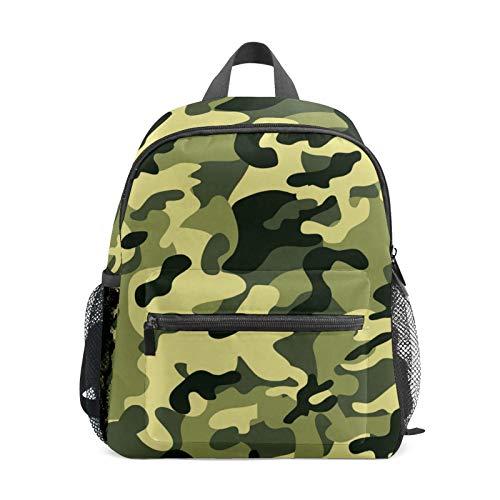 Mochila estudiantil para niños y niñas, diseño de camuflaje, verde y marrón, informal, bolsa de viaje para la escuela, regalo