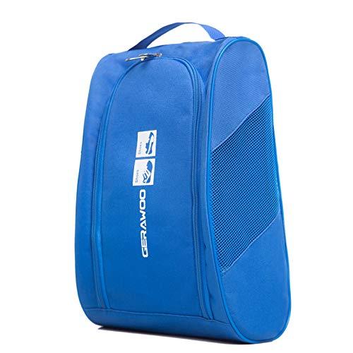 GERAWOO Tragbare Fußball schuhtasche, Robuster Golf Schuhbeutel Soccer Shoe Bag für Herren, Damen, Jungen, Mädchen, Sport (Blau)