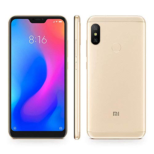 Xiaomi Mi A2 Lite (64GB, 4GB RAM) 5.84' 18:9 HD Display, Dual Camera, Android One Unlocked Smartphone - International Global LTE Version (Gold)