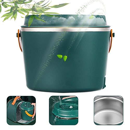 lonchera termica, Fiambrera electrica portatil, Adecuado para almuerzos trabajo-escuela-al aire libre. Con bolsa aislante. La lonchera se puede calentar en el microondas.