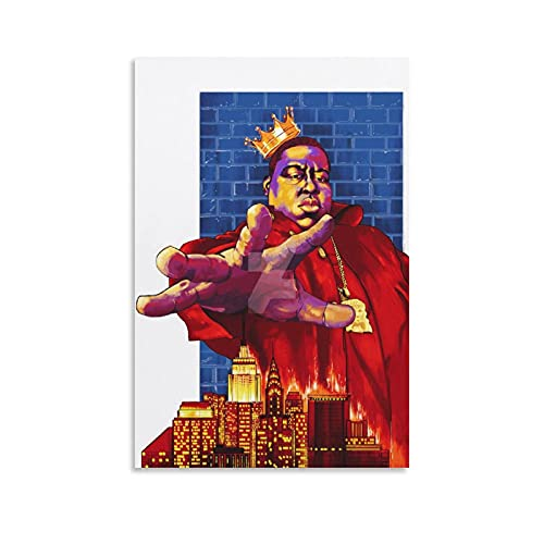 Biggie Smalls Art Crown (2) Poster Art Print Canvas Wall Personalized Picture Posters Decor Painting Gift Home Bathroom Washroom Poster for Men and Women Teens 08×12inch(20×30cm)