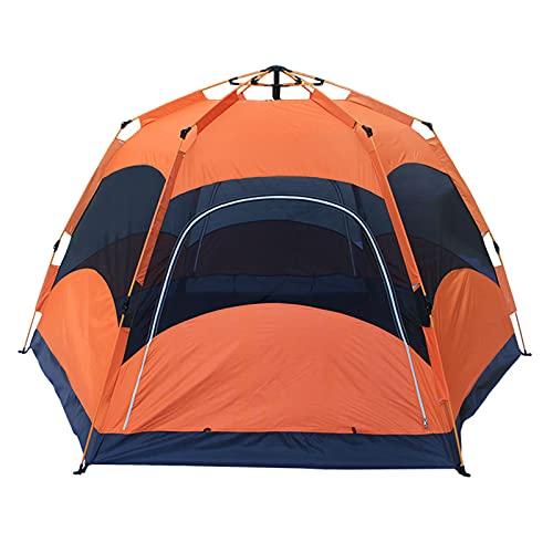 LJFLI Carpa para Camping 6-8 Personas apresuran el Camping automático del Parque de la Tienda de campaña automático Impermeable de Doble Capa Hexagonal Abierto