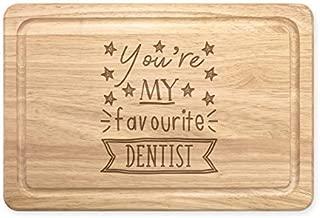 You'Re My Favourite Dentista Estrellas Rectangular Tabla para Picar de Madera