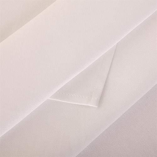 Hans-Textil-Shop Servietten 60x60 cm Weiß Baumwolle Linon (Kochfest, Stoff, Deko, Hochzeit, Geburtstag, Party)