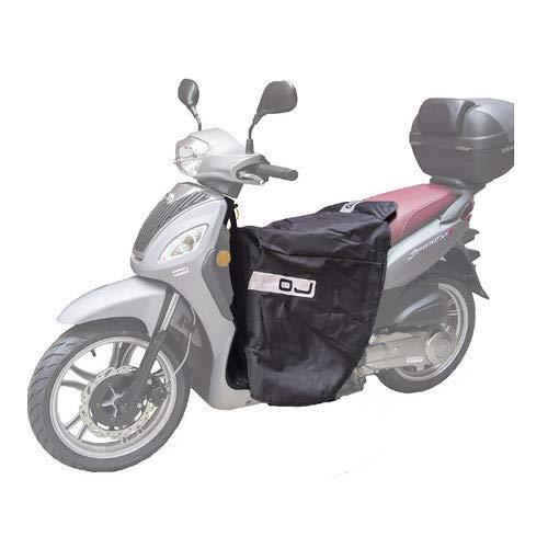 C002 Fast Cubrepiernas cubrepiernas OJ Compatible con Aprilia SR 50 1998 98 Impermeable Cortavientos Negro Scooter de Montaje rápido