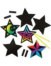 Baker Ross AC384 Imanes Rascables con Forma de Estrella (Paquete de 1) Manualidades infantiles para personalizar y exhibir, Multicolor