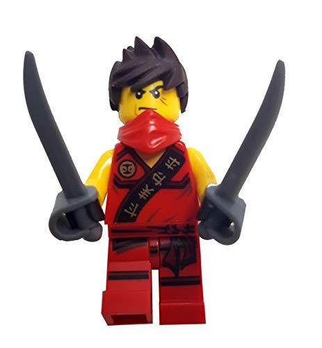 LEGO Ninjago: minifigura Kai con pelo desastrado (ninja roja) con sables