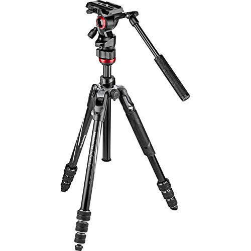 Manfrotto Befree Live Twist, Aluminium Reisestativ mit Drehverschluss, Kamerastativ für CSC, Spiegelreflex- und Kompakt Systemkameras, Video-Stativ, für Content Creation, Videographie, Video-Blogs