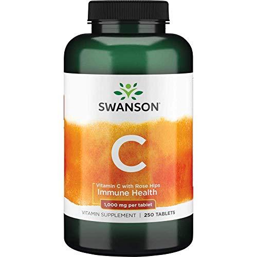 Vitamina C com Rosa Mosqueta 1000mg Swanson 250caps
