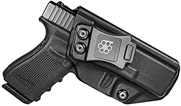 Amberide IWB KYDEX Holster Fit: Glock 19 19X 23 32 45 (Gen 1-5)   Inside Waistband   Adjustable Cant   US KYDEX Made (Black, Right Hand Draw (IWB))