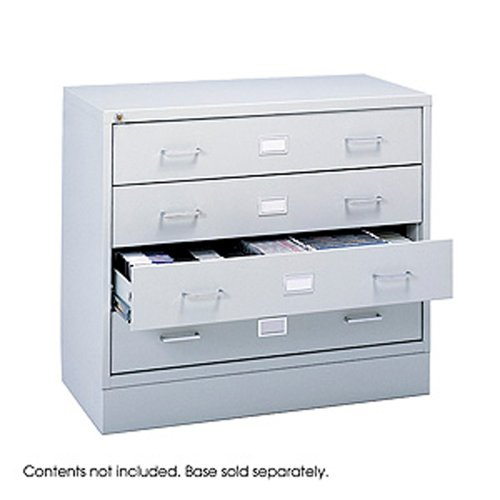 Safco Products Audio/Video Media Cabinet (Optional base sold separately), Light Gray