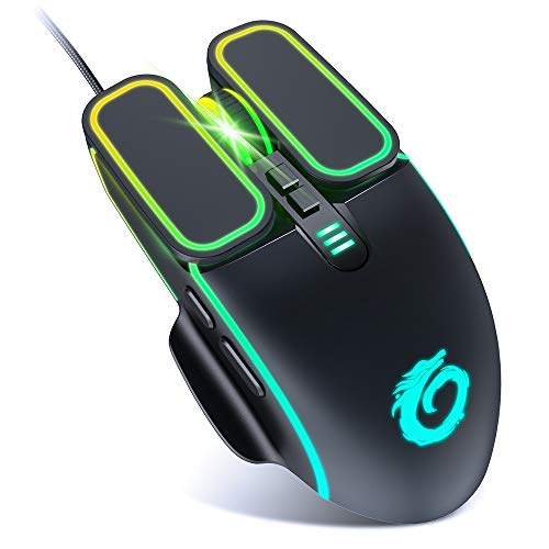 VersionTECH. Gaming Mouse [7200 DPI] [RGB Breathing Light] [7 Buttons] Wired Computer Mouse PC Desktop Laptop USB Mice Optical Gamer Mouse for Windows 7/8/10/XP/Vista Linus