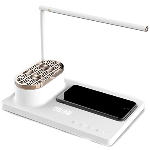 LED-audio bureaulamp smart home baken multifunctionele bureaulamp met draadloze oplader en Bluetooth-luidspreker stand,1