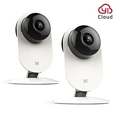 YI Home Camera, Security Camera Wireless IP Surveillance Camera with Night Vision Activity Detection Alert Baby Monitor, Remote Monitor with iOS, Android App - Cloud Service Available (2 Pack)