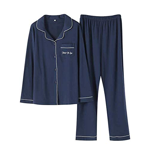 Gifort パジャマ 綿100 ペア 夫婦 ルームウェア メンズ レディース 長袖 上下セット 吸汗 通気 肌に優しい 部屋着 春・夏・秋・冬用