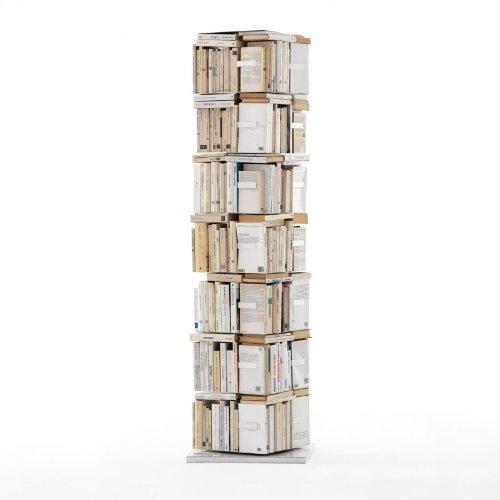 Opinion Ciatti Ptolomeo X4 B Büchersäule, weiß lackiert H197cm, 7 Regalböden