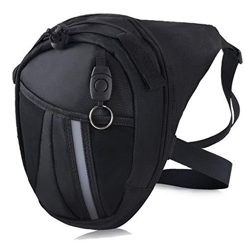 Bageek - Borsa da gamba a goccia per uomo e donna, impermeabile, con tasca per gamba per moto e bici