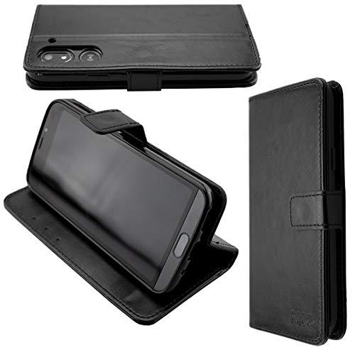 caseroxx Handy Hülle Tasche kompatibel mit Doro 8050/8050 Plus Bookstyle-Hülle Wallet Hülle in schwarz