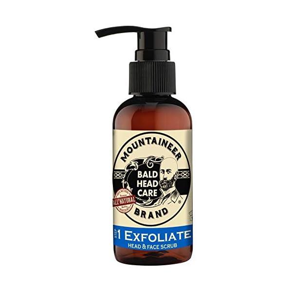 Mountaineer Brand Bald Head Care - Exfoliate - Men's All Natural Head and Face Scrub 4 oz. 1