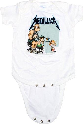 Metallica - Tatuaje Onesie Babywear En Blanco, 12, White
