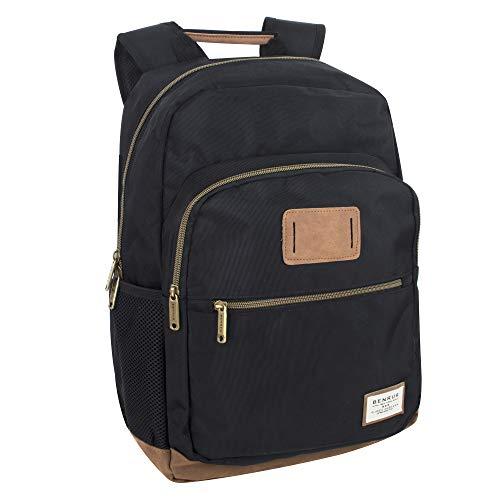 Benrus Bag - Outdoor Rucksack & Hiking and Student Flight Backpack for Men (Black)