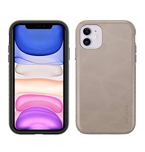 Pelican iPhone 11 Case, Traveler Series – Military Grade Drop Tested – TPU, Polycarbonate Protective Case for Apple iPhone 11 (Taupe)