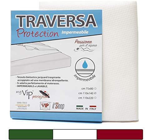 BabyTools Traverse Letto (Oeko-Tex® e 100% Made in Italy) - Traversine Neonato 75x80 cm - Traversa Impermeabile Letto Singolo Ideale per Culla e Lettino