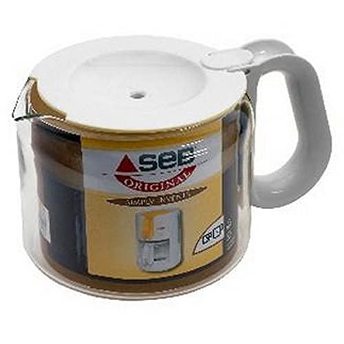 Seb CL232101 dzbanek do kawy z pokrywką 15 filiżanek dla Simply Invents ekspres do kawy biały