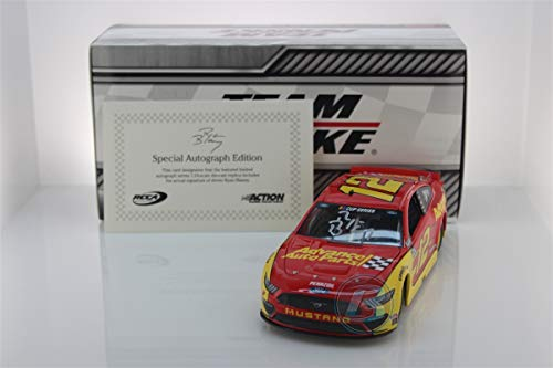 Lionel Racing Ryan Blaney Autographed 2020 Advance Auto Parts 1:24